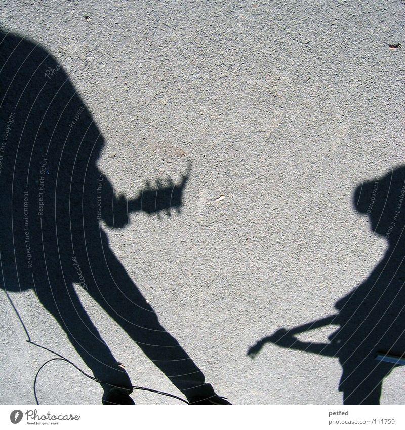 Schattencombo Wien Österreich Straßenmusiker Kultur Freizeit & Hobby träumen Gebet musizieren Spielen schwarz grau Konzert Musik Mensch Leben Künstler