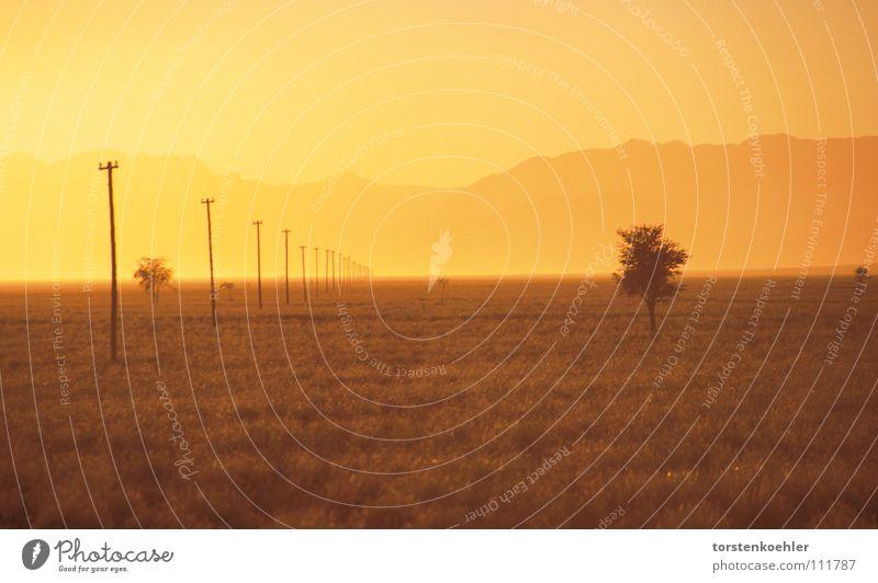 Sunrise Himmel orange Wüste Afrika Sturm Namibia Namib
