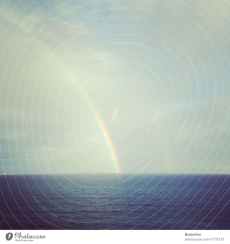 Das Rote Buch Himmel Himmel (Jenseits) Meer ruhig Wolken träumen Wellen Wunsch Mittelmeer Regenbogen zyan Psychische Störung spektral Traumwelt