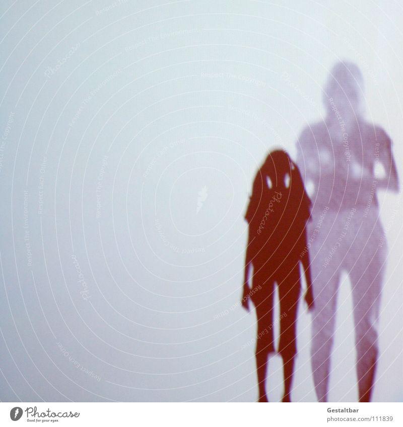 Schattenspiel 16 Frau Kind Mädchen Zopf feminin Silhouette Fotografieren geheimnisvoll stehen Denken Aussicht gestaltbar Ausstellung Projektionsleinwand Mensch