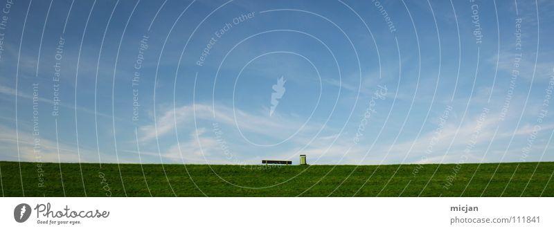 Freedom schön Himmel ruhig Wolken Erholung Herbst Wiese träumen Mauer Luft Raum klein groß Horizont Erde Perspektive