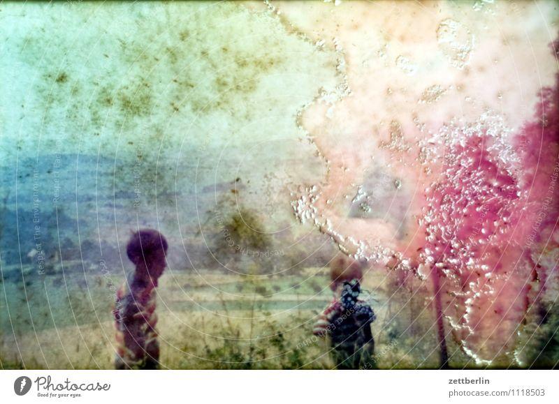 Lutz und Thomas, 1971 Kind Junge Ferien & Urlaub & Reisen Reisefotografie Landschaft Hügel Horizont früher Kindheit Kindheitserinnerung Jugendliche