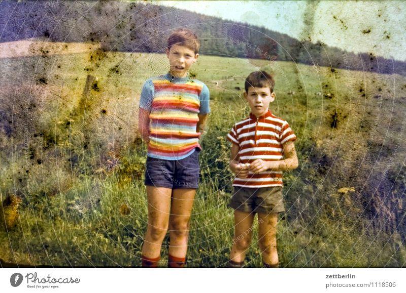 Lutz und Thomas, 1971 Kind Junge Ferien & Urlaub & Reisen Reisefotografie Landschaft Hügel früher Vergangenheit Kindheit Kindheitserinnerung Porträt Farbe