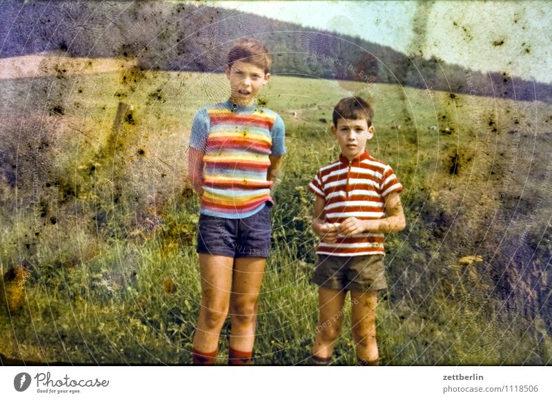 Lutz und Thomas, 1971 Kind Natur Ferien & Urlaub & Reisen Farbe Sommer Erholung Landschaft Gesicht Reisefotografie Junge Familie & Verwandtschaft Körper