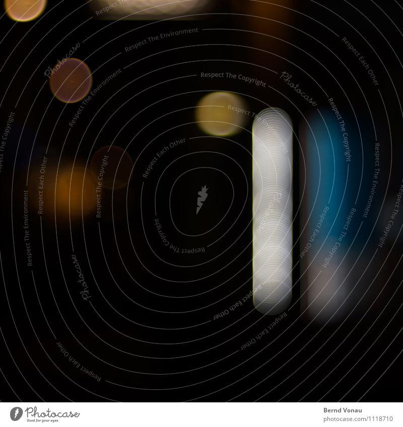 HD bei Nacht Lampe Stadtzentrum Ring dunkel rund blau orange Heidelberg Leuchtdiode Beleuchtung Kreis Pop-Art Geometrie Farbfoto Außenaufnahme Experiment