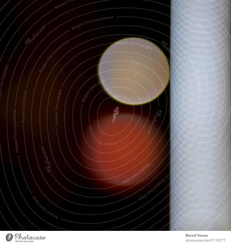 früher war mehr lametta Stadt Stadtzentrum Fußgängerzone rot gelb Kreis Leuchtdiode Geometrie Composing schwarz überlagert tangente Farbfoto Außenaufnahme