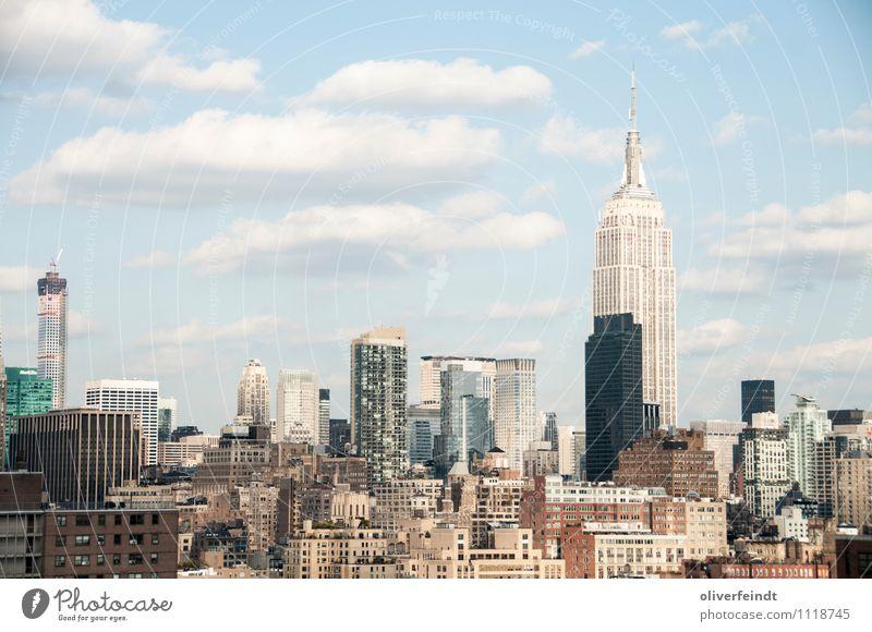 Empire State II Ferien & Urlaub & Reisen Tourismus Ausflug Ferne Freiheit Sightseeing Städtereise Sommer Sommerurlaub Himmel Wolken Schönes Wetter New York City