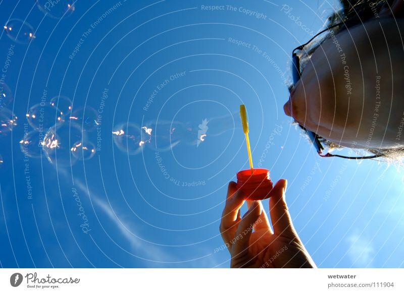 Seifenblasen 1 Himmel Sommer Freude Luft Vergänglichkeit blasen Seifenblase Seife