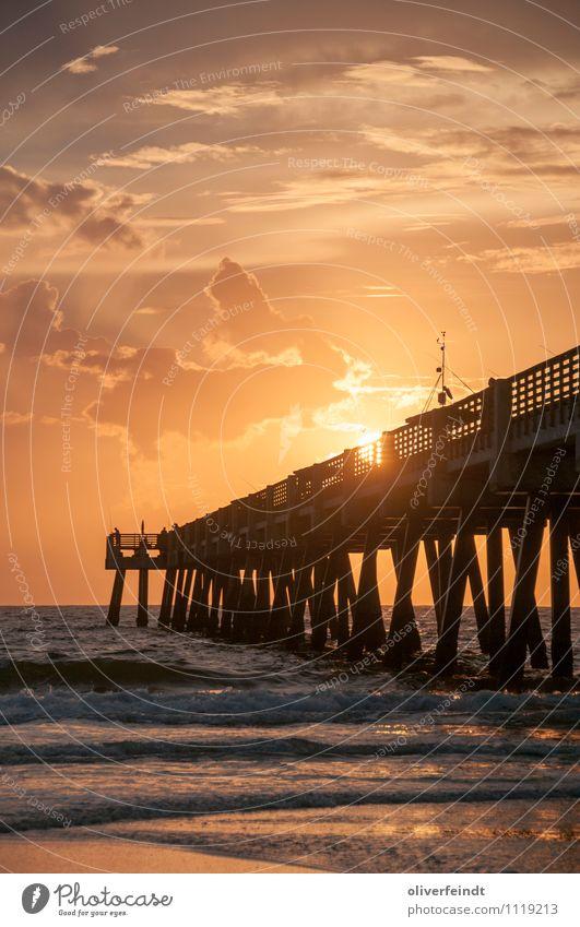 Sonnenaufgang II Himmel Natur Ferien & Urlaub & Reisen Sommer Meer Wolken Strand Ferne Umwelt Küste Freiheit Horizont Freizeit & Hobby Wellen Ausflug