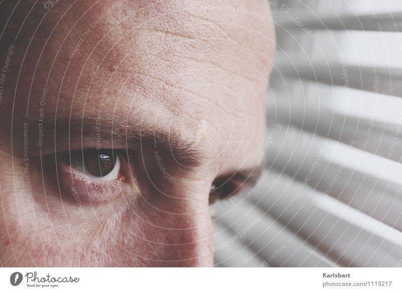 Voidness Mensch Mann Fenster Erwachsene Auge Denken Business maskulin nachdenklich Erfolg Zukunft beobachten planen geheimnisvoll Bildung Erwachsenenbildung