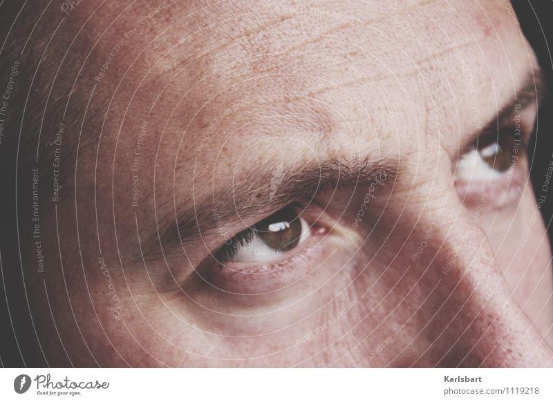 Portrait of a moment Mensch Mann Erotik Erwachsene Auge Religion & Glaube Denken maskulin Business Kraft Erfolg Idee Studium lernen Neugier Bildung