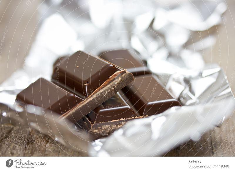 Schokolade dunkel Kuvertüre bitter Tafelschokolade zart Kakao schmelzen Sahne süß Süßwaren Zucker Diät Folie Aluminium Metallfolie Verpackung verpackt einpacken
