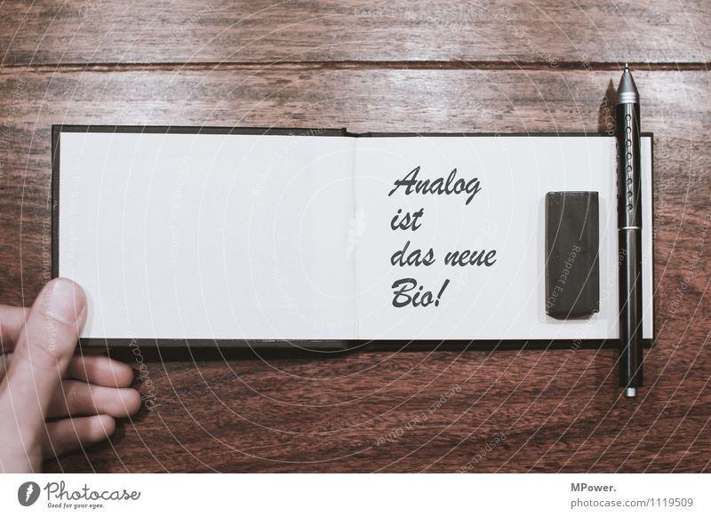 das neue bio Holz Schriftzeichen Wunsch schreiben Medien trendy Bioprodukte Handel analog Schreibstift digital wenige Text Radiergummi Medienrummel anspruchsvoll