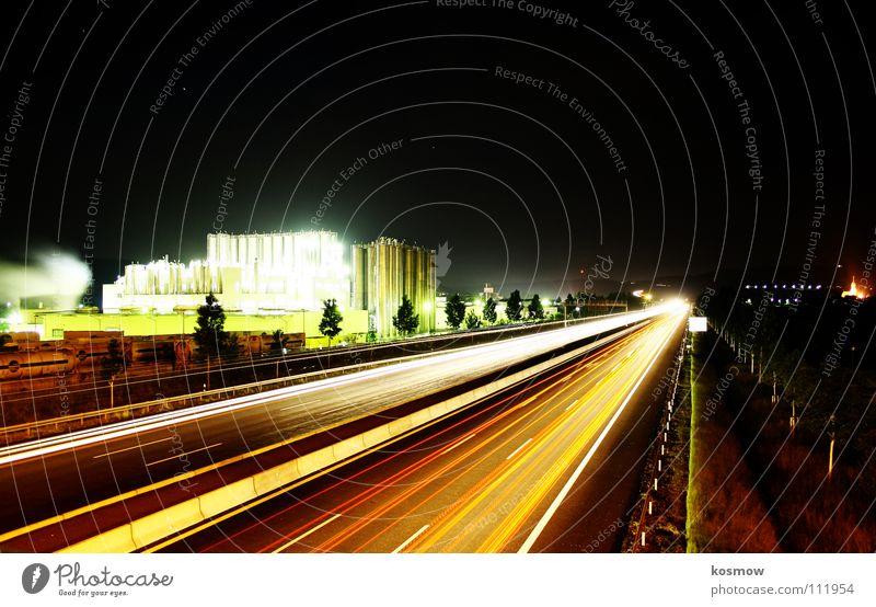 08 / 15 - Wo ist die Idee? Nacht Bayreuth Langzeitbelichtung Autobahn Verkehrswege A9 dunke Straße Industriefotografie Brücke