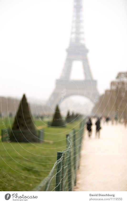 Paris, Paris... Mensch Himmel Ferien & Urlaub & Reisen Stadt grün weiß Baum schwarz gelb Architektur Liebe Kunst Tourismus Europa Bauwerk Zaun