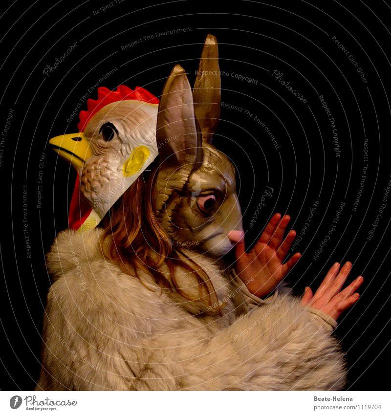 Alles in einer Hand (oder zwei) rot Tier gelb außergewöhnlich braun Arbeit & Erwerbstätigkeit Kraft Ostern Zukunftsangst Fell Leidenschaft Mut Haustier