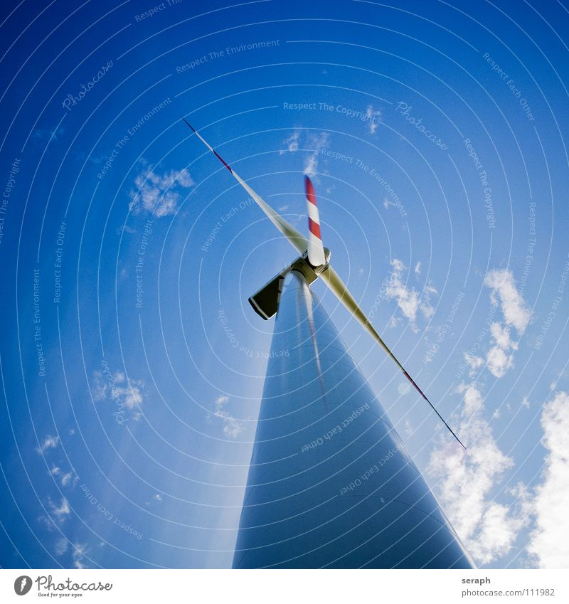 Windkrafrad Himmel Umwelt Energiewirtschaft modern Elektrizität Technik & Technologie Sauberkeit Tragfläche Windkraftanlage Konstruktion ökologisch Umweltschutz