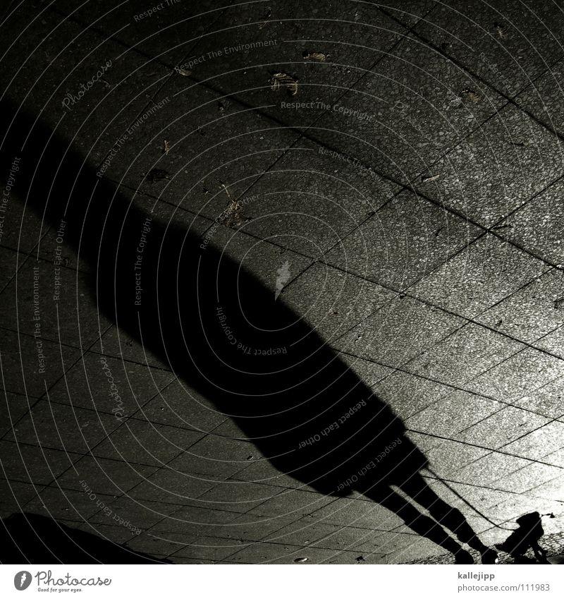 gassi, gassi Frau Mann Hund schwarz Stein Arbeit & Erwerbstätigkeit laufen mehrere Spaziergang Schnur Bürgersteig Schüler Straßenbelag anonym falsch Pflastersteine