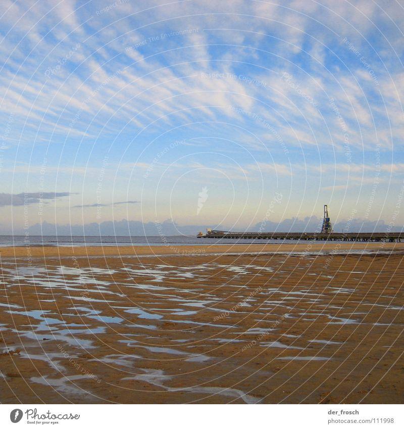 nach der flut 02 Himmel Meer blau Strand Sand Küste Wind Sturm Nordsee Wattenmeer Hochwasser Überschwemmung Wilhelmshaven