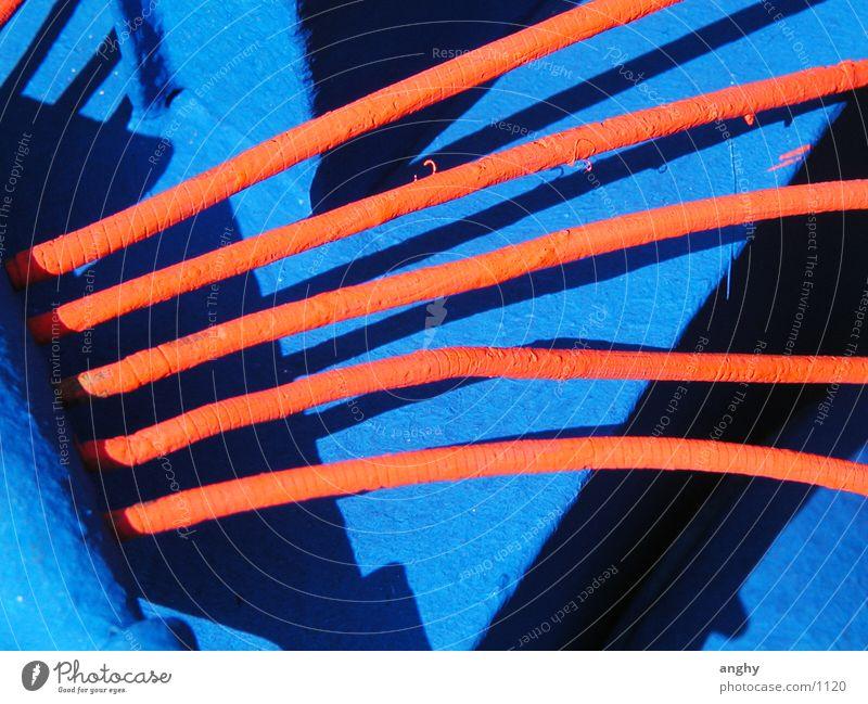 blau-orange Kunst Dinge