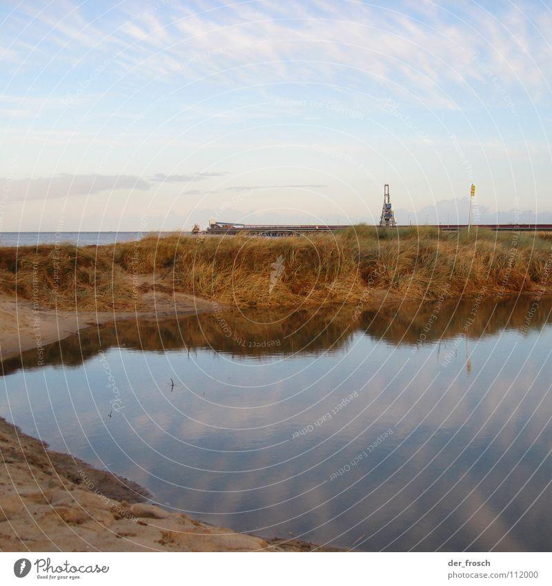 nach der flut 01 Himmel Meer blau Strand Sand Küste Wind Sturm Nordsee Wattenmeer Hochwasser Überschwemmung Wilhelmshaven