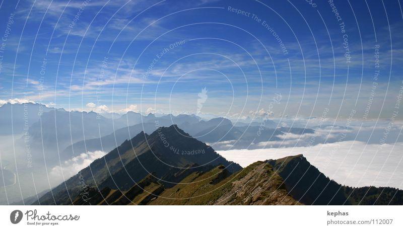 once upon a time in the alps Wolken Nebel Schweiz Aussicht Sehnsucht wandern Gipfel Fernweh Ewigkeit Berge u. Gebirge Wurfspieß Alpen Himmel Ferne Innerschweiz
