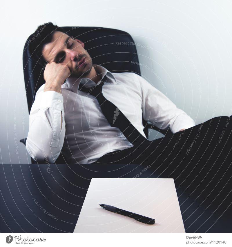 Der Nachwuchs ist da Mensch Jugendliche Junger Mann ruhig Erwachsene Leben Lifestyle Business träumen maskulin sitzen lernen Baby schlafen Bildung Müdigkeit