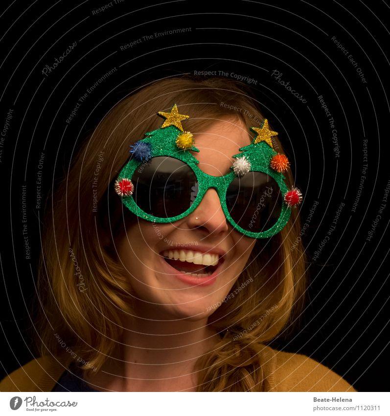 Jippih, bald ist Weihnachten 2/2 Lifestyle schön Feste & Feiern Weihnachten & Advent Silvester u. Neujahr Junge Frau Jugendliche Mode Accessoire Maske blond