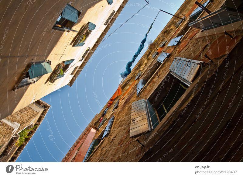 Venezianischer Himmel Ferien & Urlaub & Reisen Tourismus Sightseeing Städtereise Sommer Sommerurlaub Häusliches Leben Wolkenloser Himmel Schönes Wetter Venedig