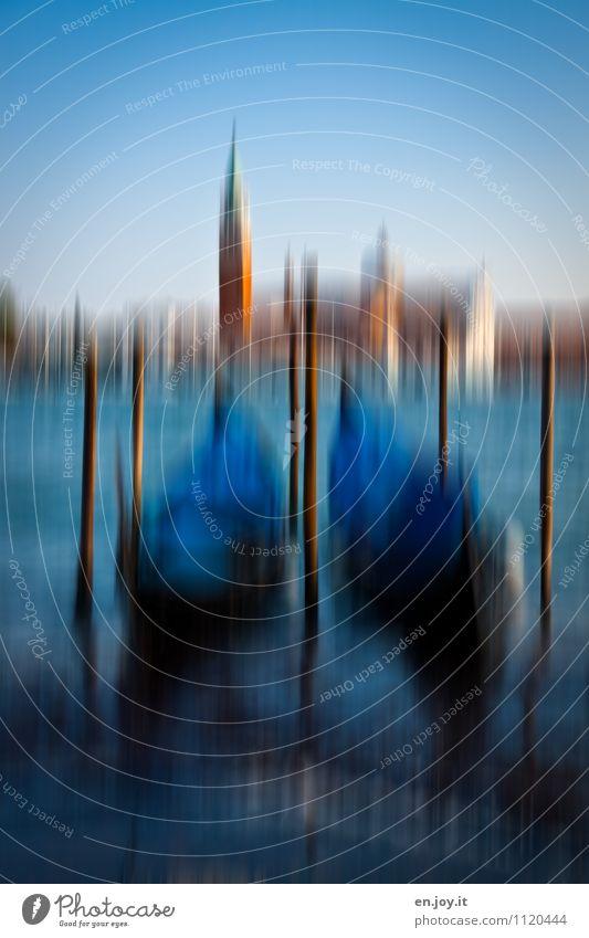 Wellengang Ferien & Urlaub & Reisen Stadt alt blau Sommer Umwelt Gebäude Schwimmen & Baden Tourismus Insel Ausflug Kirche Schönes Wetter Italien Turm historisch
