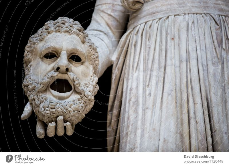 Das Gesicht verlieren Ferien & Urlaub & Reisen Stadt weiß schwarz Traurigkeit Stein Kunst Angst Tourismus Kultur Bart Gesichtsausdruck Stress Paris Surrealismus Skulptur