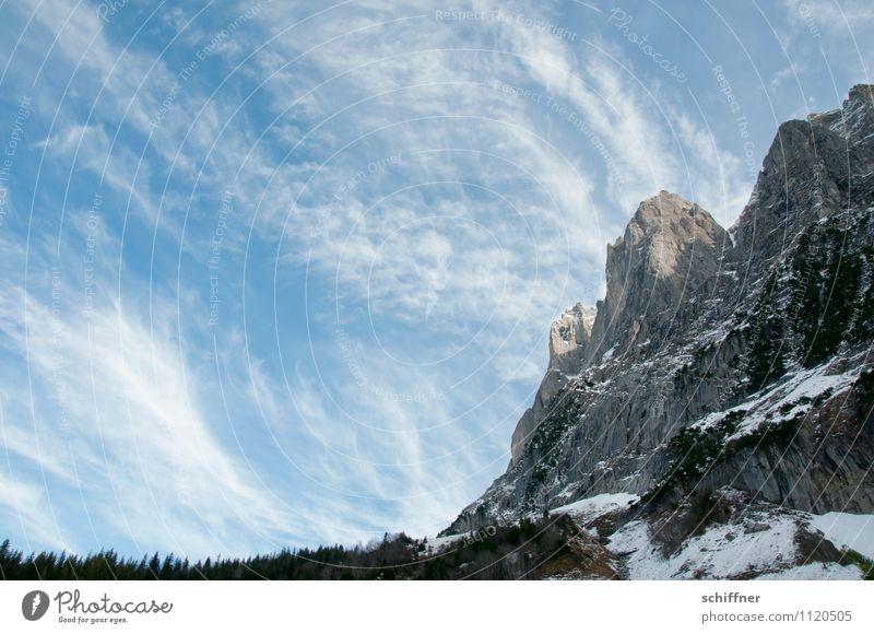 Himmelsstaub Natur Landschaft kalt Umwelt Berge u. Gebirge Felsen Wetter Schönes Wetter Gipfel Alpen Schneebedeckte Gipfel Gletscher Wolkenhimmel alpin Felswand