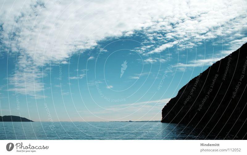 Lago ... Wasser Himmel weiß blau Sommer Ferien & Urlaub & Reisen Wolken Erholung Berge u. Gebirge See Wärme Landschaft orange Wellen Küste Horizont