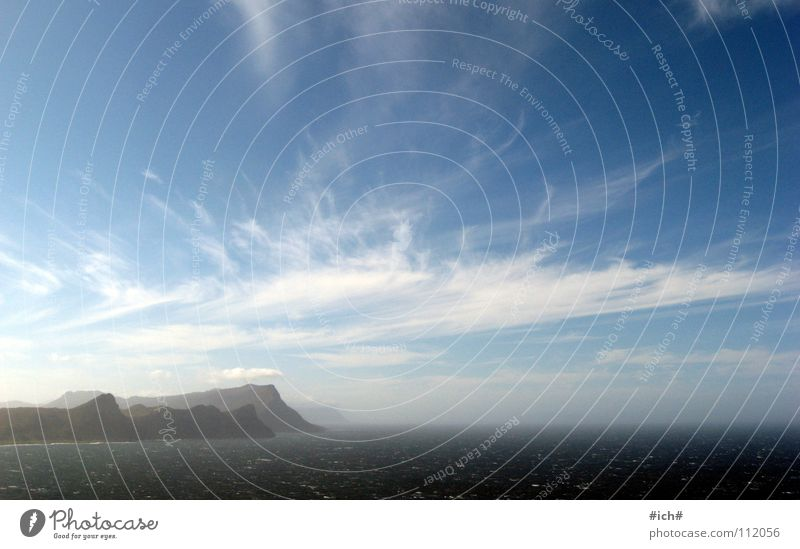 mit wolken malen Wolken Cape Point Cape Of Good Hope Meer Ferne blau Himmel Berge u. Gebirge Wind