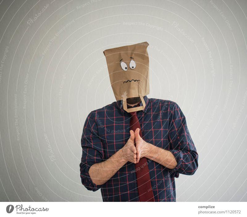 oh! Körper Gesicht Gesundheit Krankheit Rauschmittel Alkohol Medikament Arbeit & Erwerbstätigkeit Business sprechen Arbeitslosigkeit Mann Erwachsene Hemd Maske