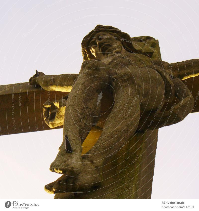 Jesus. Jesus Christus Kruzifix Hinrichtung Religion & Glaube Leben hängen geben Christentum heilig Götter Gesellschaft (Soziologie) Ewigkeit Wahrheit Nagel