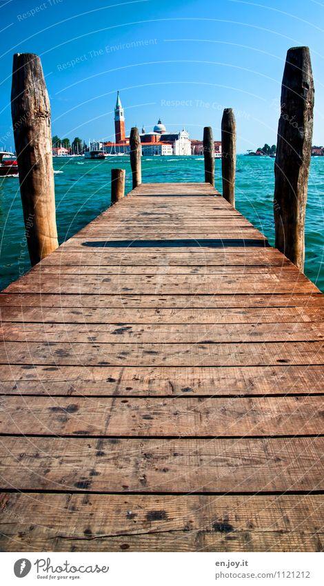 Wasserweg Ferien & Urlaub & Reisen Stadt Sommer Umwelt Wege & Pfade Tourismus Fröhlichkeit Insel Ausflug Lebensfreude Kirche Schönes Wetter Italien Hafen