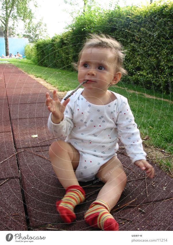stöckchen Kind Ernährung träumen beobachten Stock