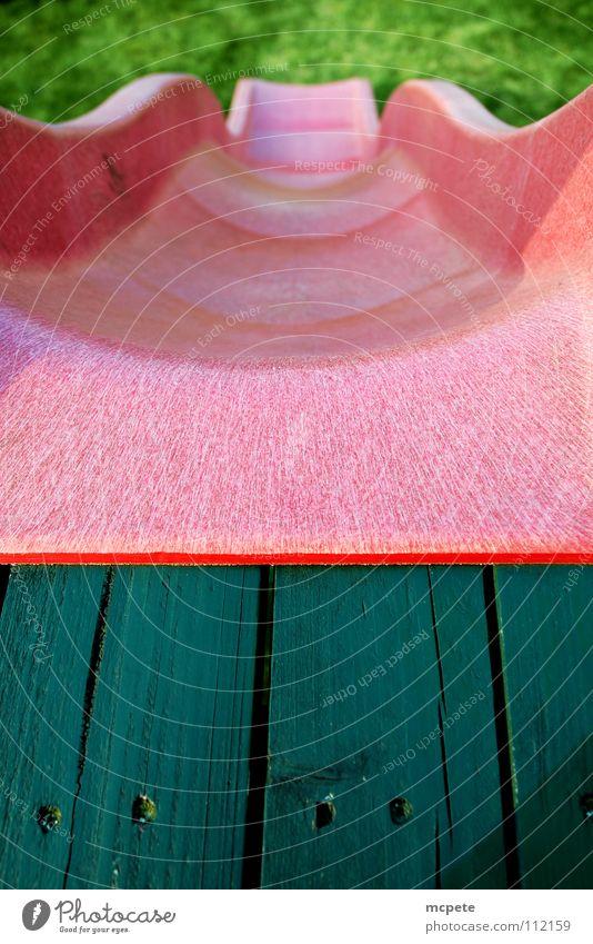 - slide - Freude Farbe Spielen Kindheit Freizeit & Hobby abwärts Spielplatz Rutsche