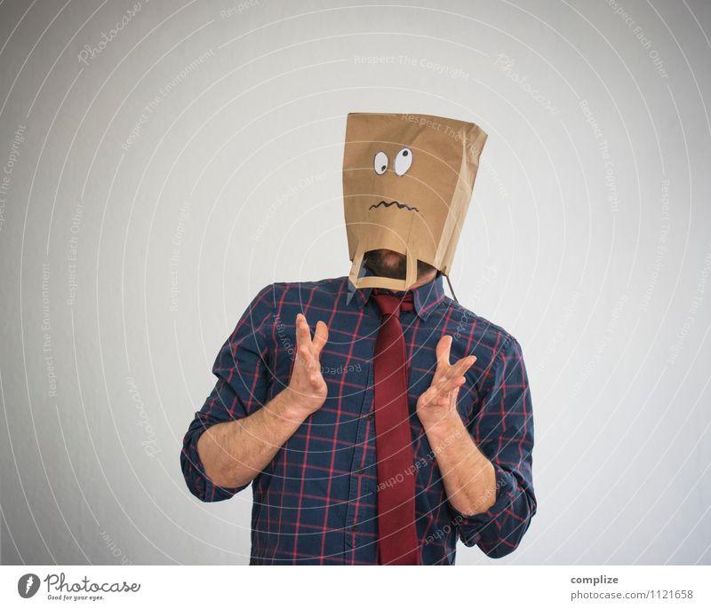Boing! Gesundheit Krankheit Arbeit & Erwerbstätigkeit Beruf Wirtschaft Geldinstitut Mann Erwachsene Gesicht Auge Brust Mode Hemd Schmerz Erschöpfung Angst