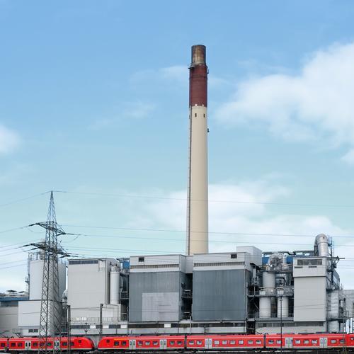Rolling home Ausflug Industrie Energiewirtschaft Kohlekraftwerk Schönes Wetter Industrieanlage Fabrik Schornstein Verkehr Verkehrsmittel Personenverkehr