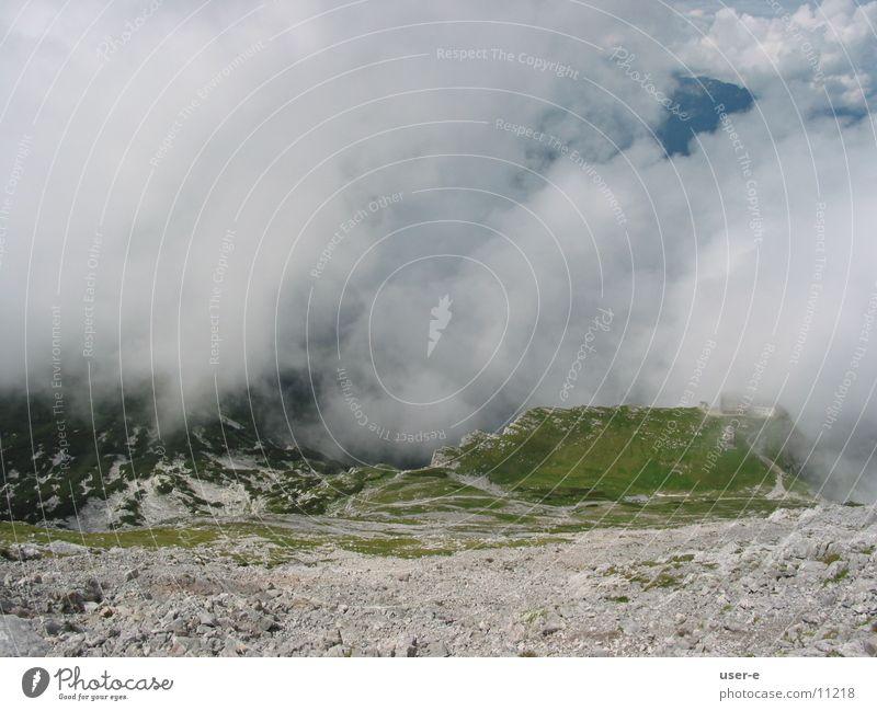 Watzmannhaus Wolken Berge u. Gebirge Landschaft