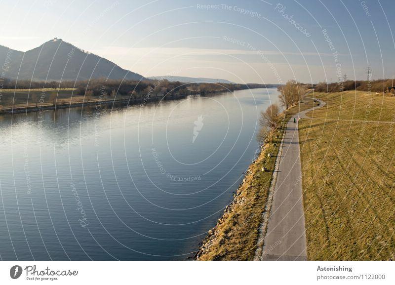entlang der Donau Umwelt Natur Landschaft Pflanze Luft Wasser Himmel Wolkenloser Himmel Horizont Frühling Wetter Schönes Wetter Baum Gras Park Wiese Hügel Küste