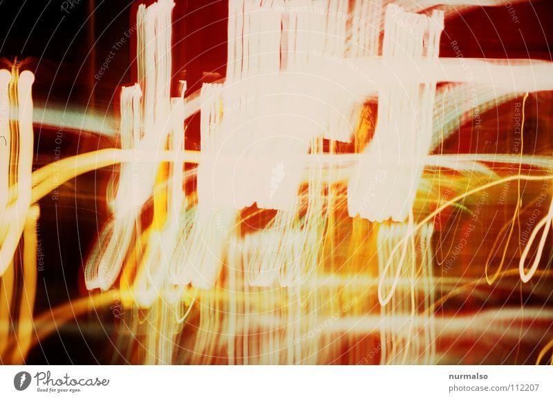 digital Brain rot Farbe Lampe orange Zeit Show stoppen Wissenschaften lang Blitze Tunnel Flughafen frieren Idee Neonlicht durcheinander