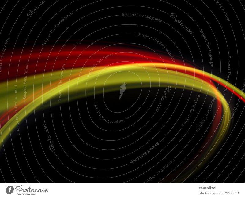 Schwarz Rot Gold! Wissenschaften Technik & Technologie Internet Streifen Geschwindigkeit gelb gold rot schwarz Farbe Zukunft virtuell online abstrakt Licht