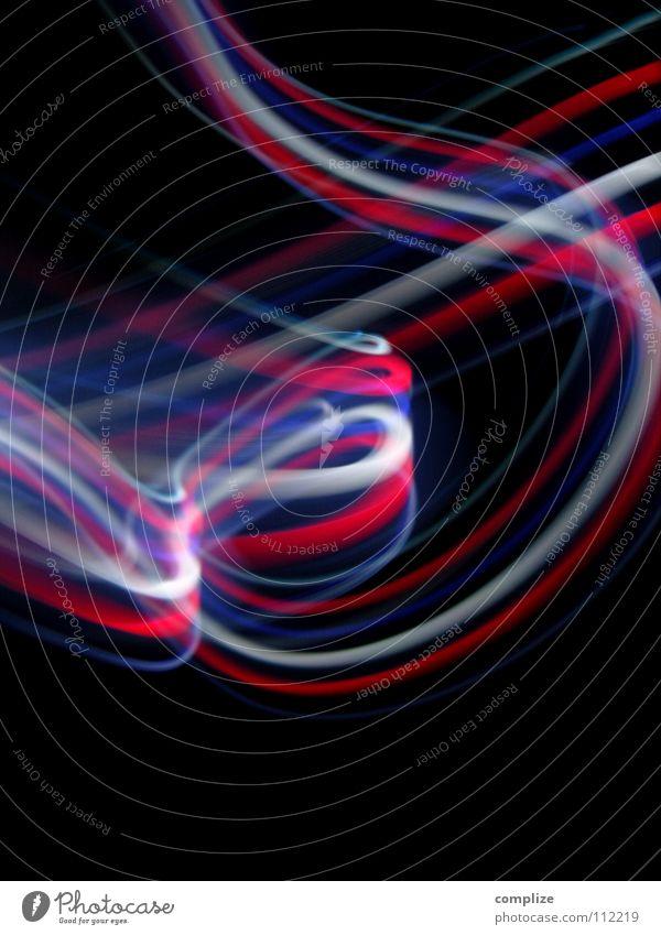 Liberté Egalité Fraternité Frankreich Franzosen gleich brüderlich Nationalflagge WM 2006 Fan Streifen Licht zart elektronisch Lichtschlauch Schlauch schwarz
