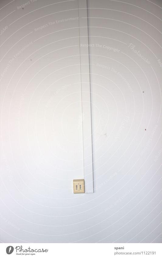kein Anschluss unter dieser Nummer Telefon Telekommunikation Mauer Wand Kunststoff einfach weiß Farbfoto Innenaufnahme Textfreiraum links Textfreiraum rechts