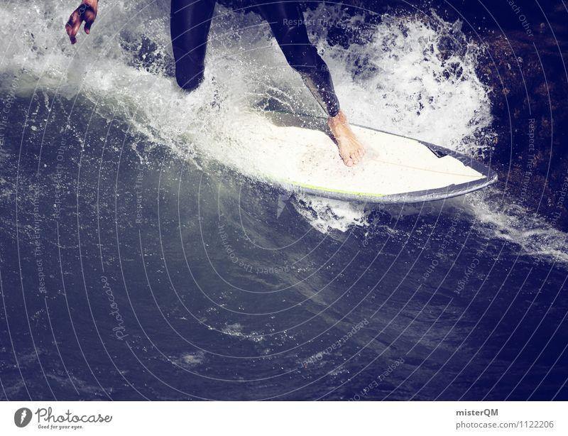 2000 Drops. Kunst ästhetisch Zufriedenheit Surfer Surfen Surfbrett Wassersport Geschicklichkeit Wellen Wellenform Wellenschlag wellenlos Wellenkamm Barfuß