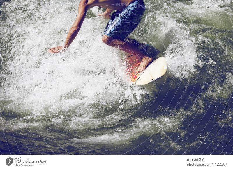 Brettspiel I Sport Kunst Zufriedenheit Wellen ästhetisch Fitness sportlich Gleichgewicht Surfen Surfer Wellengang Surfbrett Geschicklichkeit Extremsport