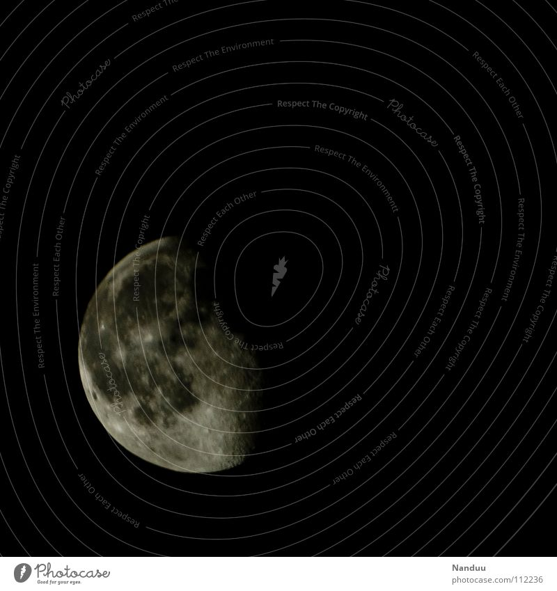 Yin schön Ferne Raumfahrt Himmel Mond dunkel kalt rund Romantik Konzentration Weltall Geisterstunde Himmelskörper & Weltall Astrologie Astronomie Gezeiten